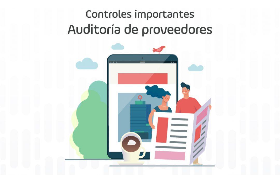 Controles importantes – Auditoría de proveedores