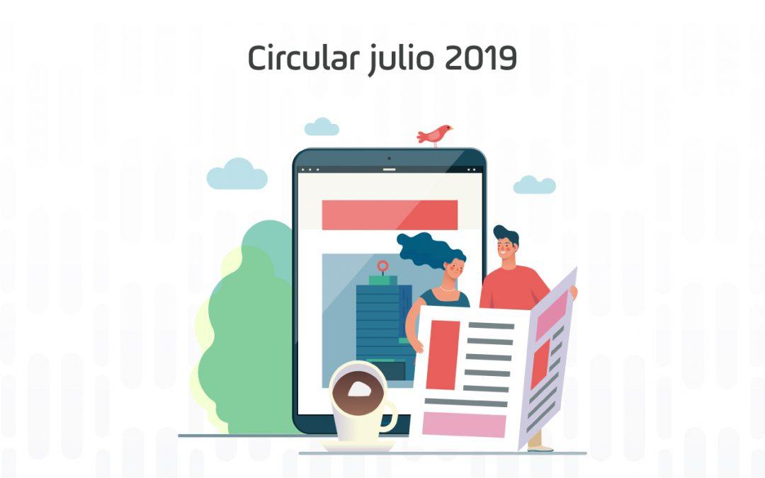 Circular mes de julio de 2019