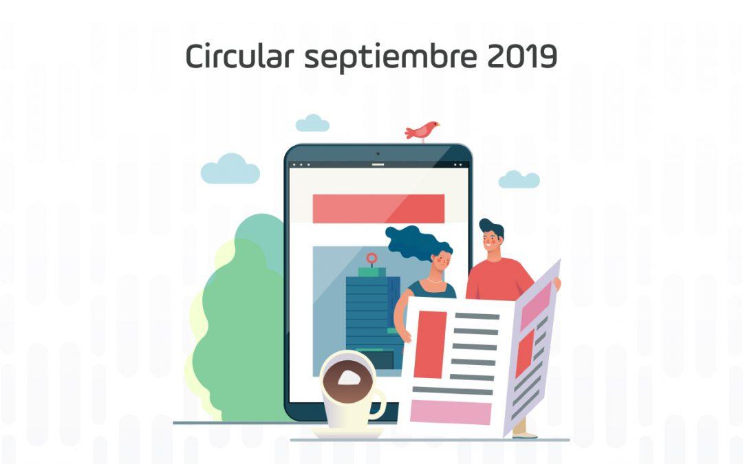 Circular mes de septiembre de 2019